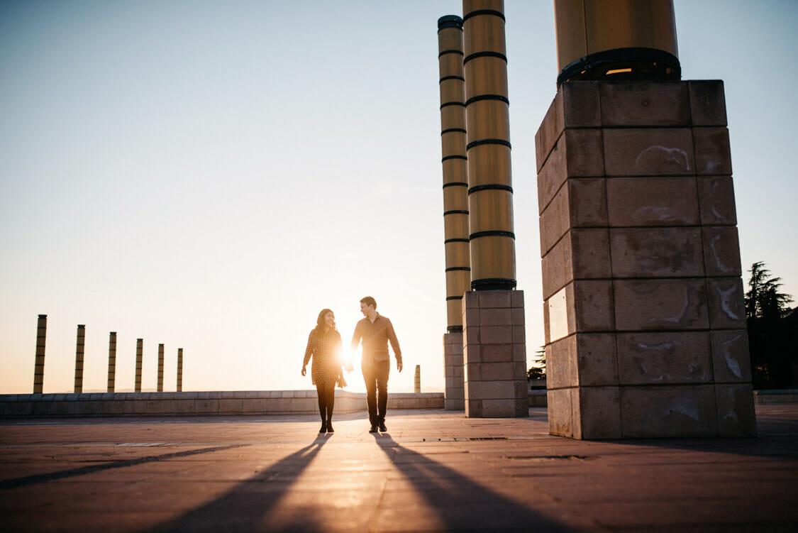 Coupleshoot Barcelona Montjuic Engagement Wedding 012