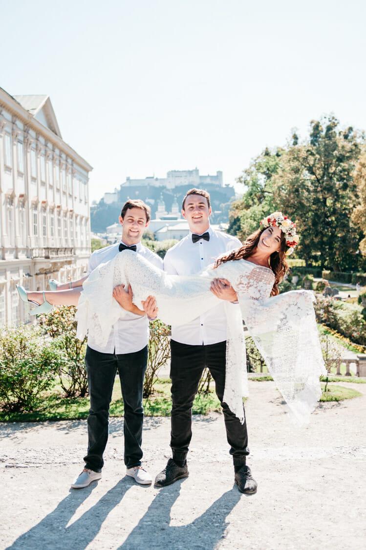 Elopement Hochzeit Salzburg Schloss Mirabell Marmorsaal Mirabellgarten 014