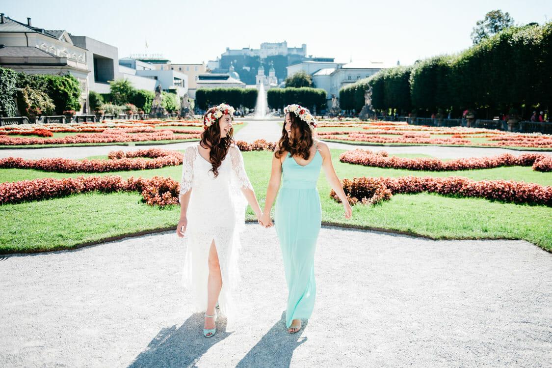 Elopement Hochzeit Salzburg Schloss Mirabell Marmorsaal Mirabellgarten 016