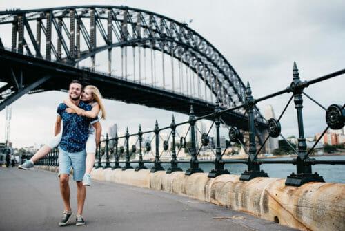 Engagement Photos Sydney Harbour Bridge